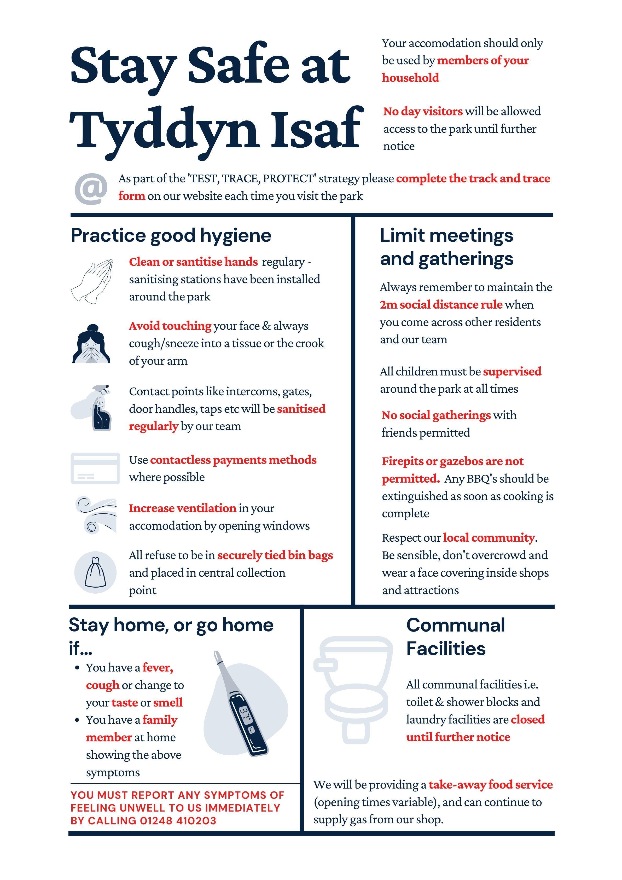 Stay safe at Tyddyn